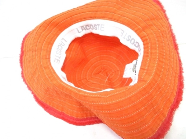 Lacoste(ラコステ) 帽子 57cm オレンジ 4