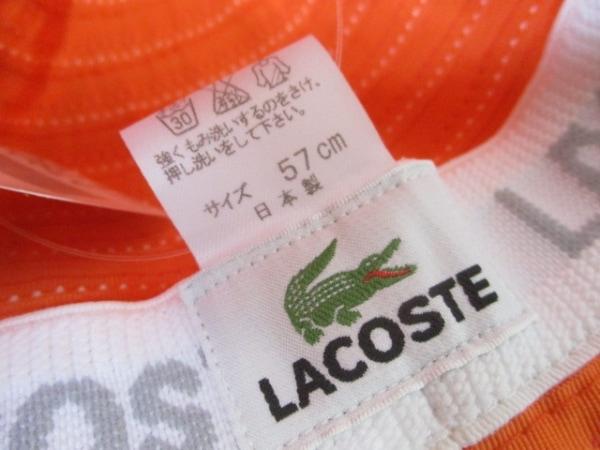 Lacoste(ラコステ) 帽子 57cm オレンジ 5