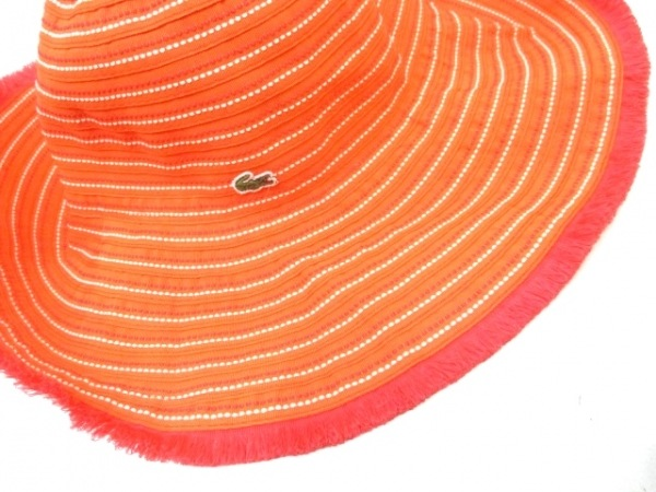 Lacoste(ラコステ) 帽子 57cm オレンジ 7