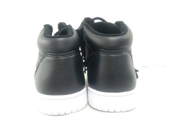 ノーブランド スニーカー 25.5 メンズ 黒×白 3
