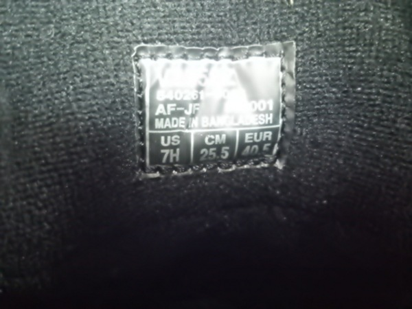 ノーブランド スニーカー 25.5 メンズ 黒×白 6