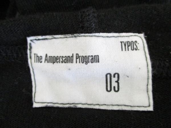 ジ・アンパーサンド・プログラム 長袖カットソー サイズ03 L メンズ 黒