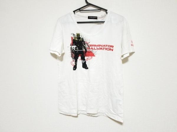 ハイダウェイニコル 半袖Tシャツ サイズ48 XL メンズ美品  白×マルチ