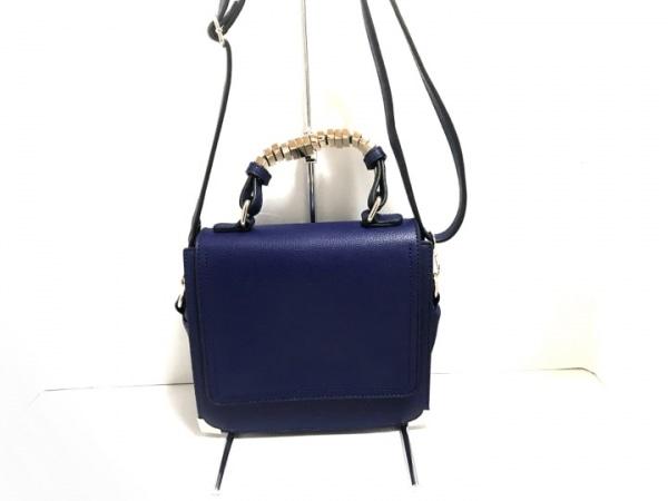 メリービアンコ ハンドバッグ ブルー 合皮