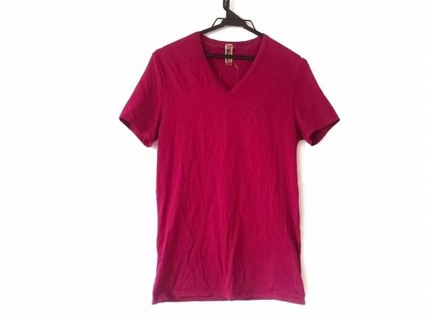ジョンガリアーノ 半袖Tシャツ サイズS(USA) レディース レッド ラインストーン