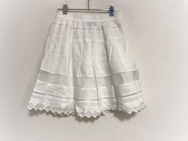 デザイナーズリミックスコレクション スカート サイズ34 S レディース美品  白