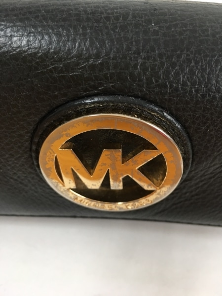 63579b13dd18 MICHAEL KORS(マイケルコース) 長財布 黒×ゴールド レザー(12310434 ...
