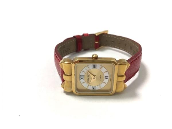 ニナリッチ 腕時計美品  D950 レディース リボン/革ベルト 2