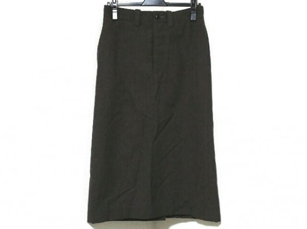ナイジェルケーボン ロングスカート サイズ8 M レディース ダークグレー