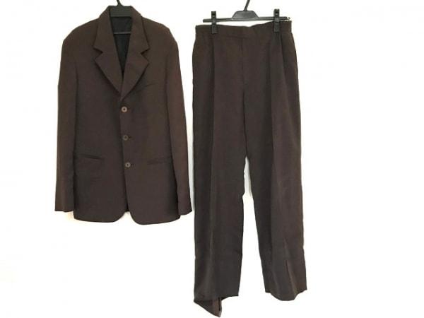 ジャンコロナ レディースパンツスーツ サイズ46 XL レディース ブラウン ゴムウエスト