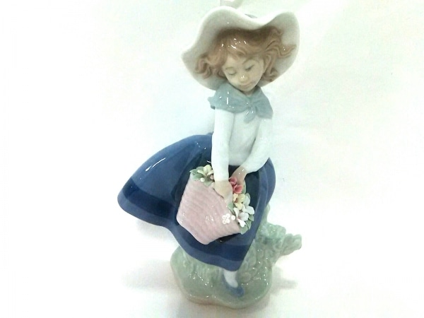 LLADRO(リヤドロ) 小物美品  白×マルチ 置物/少女 陶器
