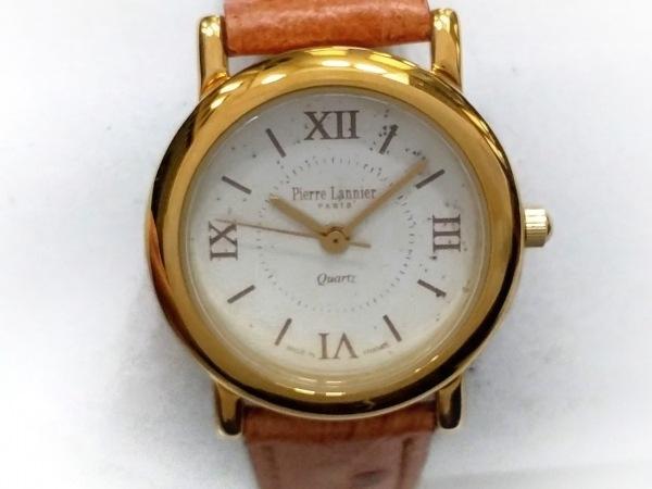 PierreLannier(ピエールラニエ) 腕時計 819/5 レディース 革ベルト アイボリー