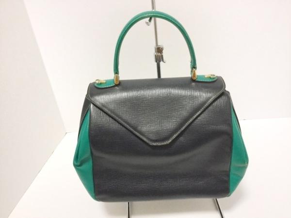ザリアーニ ハンドバッグ 黒×グリーン