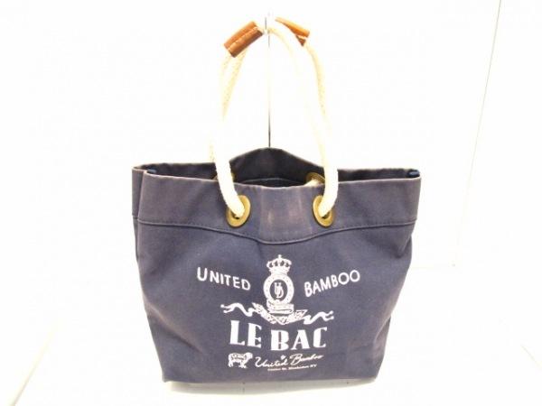 【中古】 ユナイテッドバンブー united bamboo トートバッグ ネイビー アイボリー キャンバス