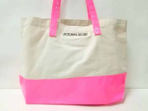 Victoria's Secret(ヴィクトリアシークレット) トートバッグ美品  アイボリー×ピンク