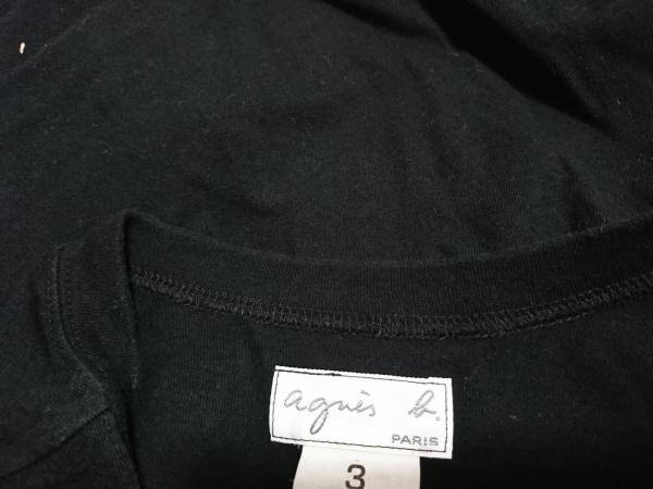 アニエスベー 長袖Tシャツ レディース 黒