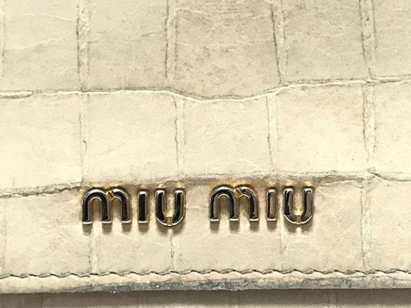 miumiu(ミュウミュウ) 長財布 - ベージュ