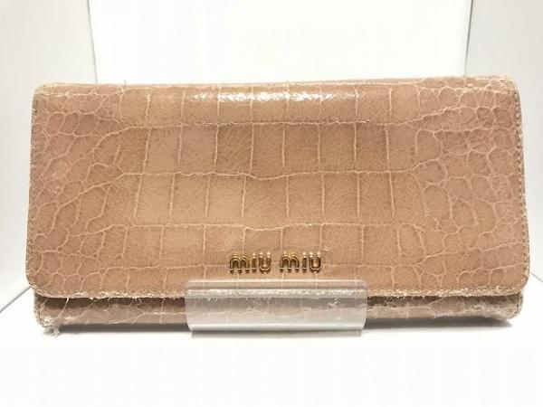 ミュウミュウ 長財布 - - ライトブラウン