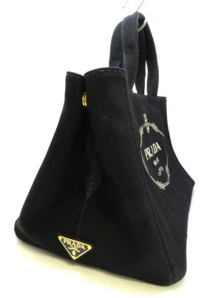 プラダ トートバッグ CANAPA 黒 キャンバス