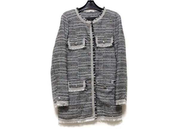 シーシークロス コート サイズ38 M 白×黒