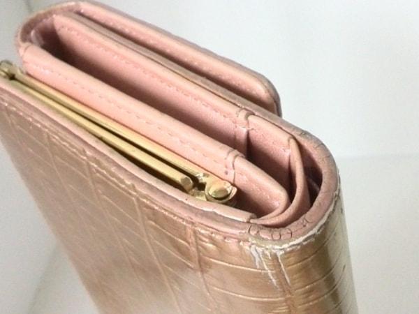 ピンキー&ダイアン 3つ折り財布 型押し加工