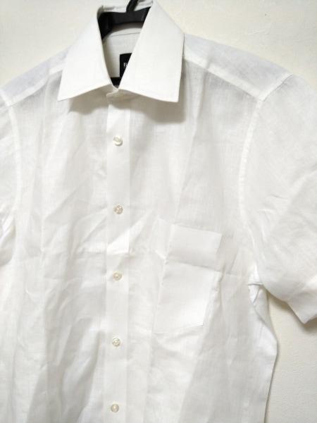 ヒューゴボス 半袖シャツ メンズ美品  白