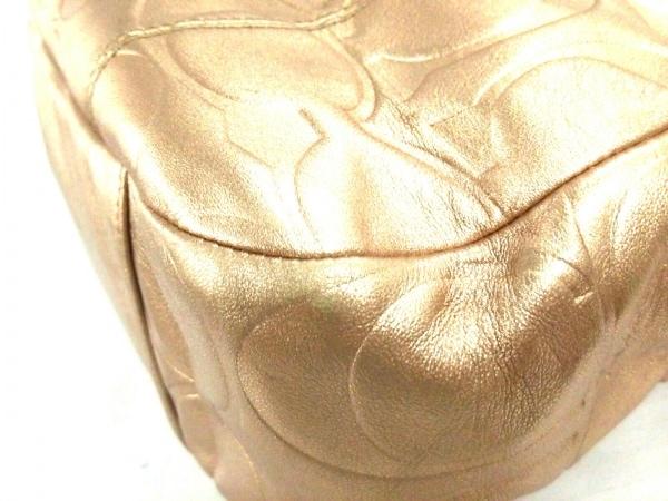 コーチ トートバッグ美品  F17727 ゴールド