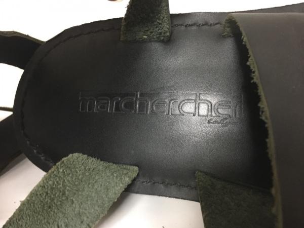 マーシェルシェ サンダル 40 メンズ 黒