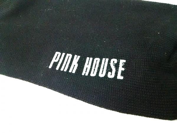 PINK HOUSE(ピンクハウス) 小物 1新品同様  黒×マルチ 靴下/アーガイル コットン