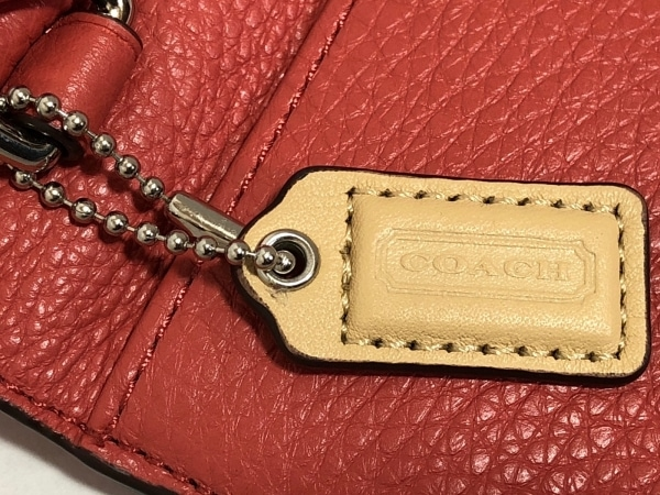 コーチ 財布美品  F51152 レッド レザー
