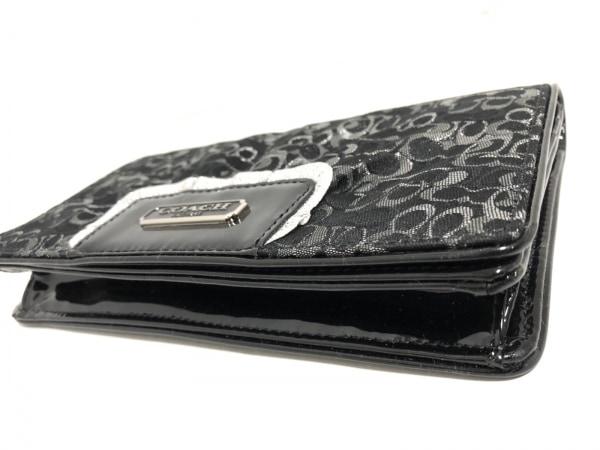 コーチ 財布 F44144 黒×グレー×シルバー