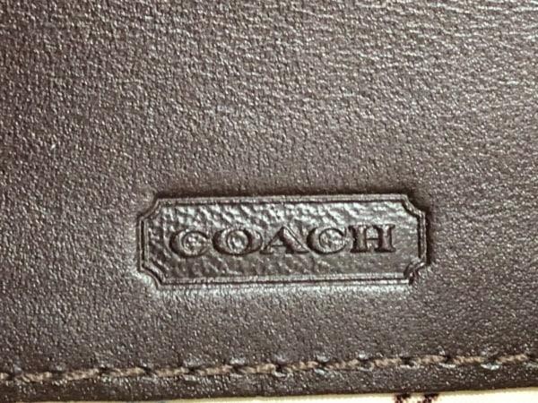 COACH(コーチ) 名刺入れ ヘリテージ ダークブラウン×アイボリー 4