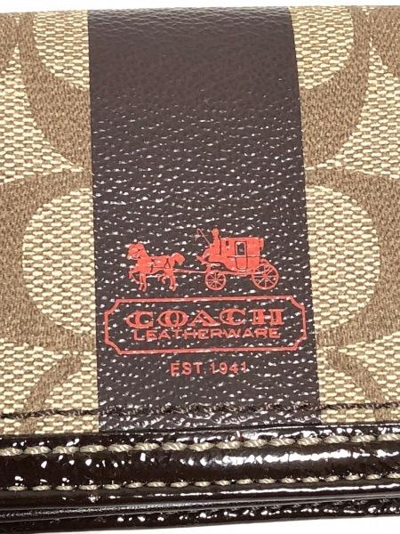COACH(コーチ) 名刺入れ ヘリテージ ダークブラウン×アイボリー 5