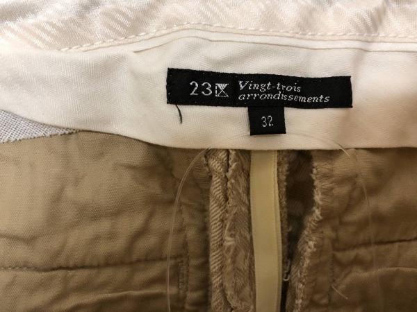 23区(ニジュウサンク) パンツ サイズ32 XS