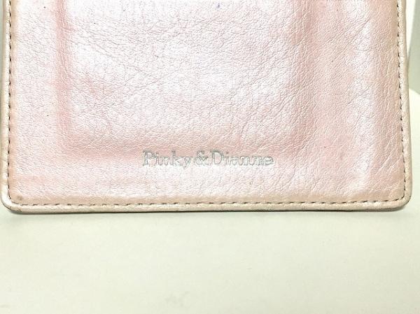 ピンキー&ダイアン パスケース ピンク ラインストーン 合皮×金属 4