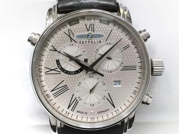 ZEPPELIN(ツェッペリン) 腕時計 7696 メンズ クロノグラフ/革ベルト シルバー