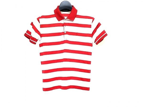 ラルフローレン・ポロゴルフ 半袖ポロシャツ サイズS レディース レッド×ホワイト