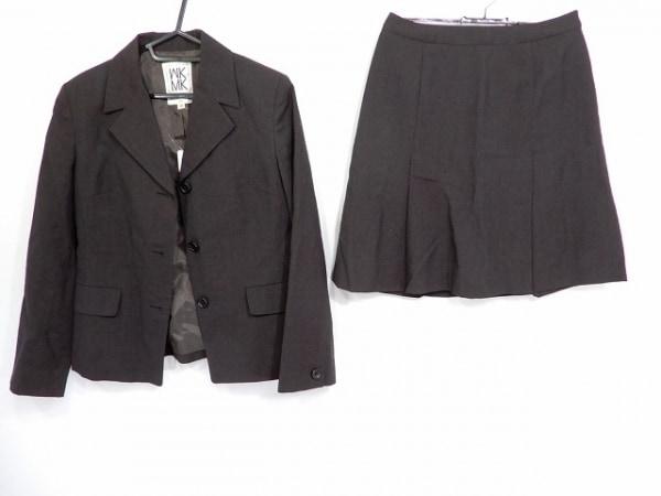 ミッシェルクラン スカートスーツ サイズ38 M レディース ダークブラウン