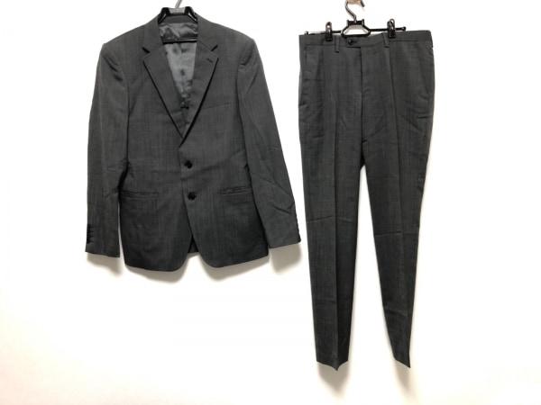 MEN'SBIGI(メンズビギ) シングルスーツ サイズ3 L メンズ美品  ダークグレー×グレー