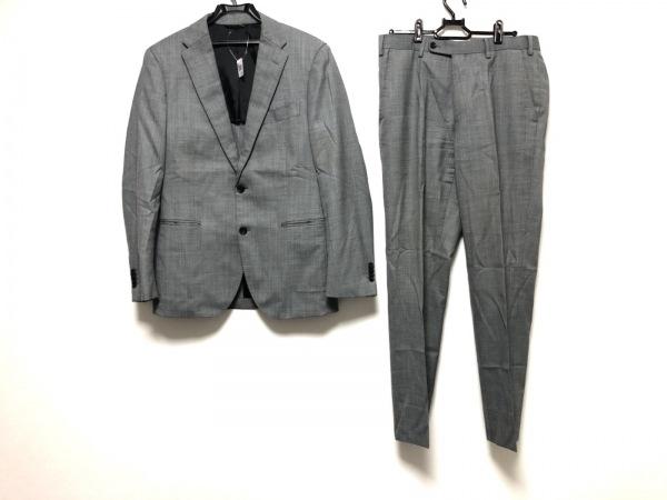 シンプリシティエ シングルスーツ サイズ46 XL メンズ グレー×ダークグレー 肩パッド