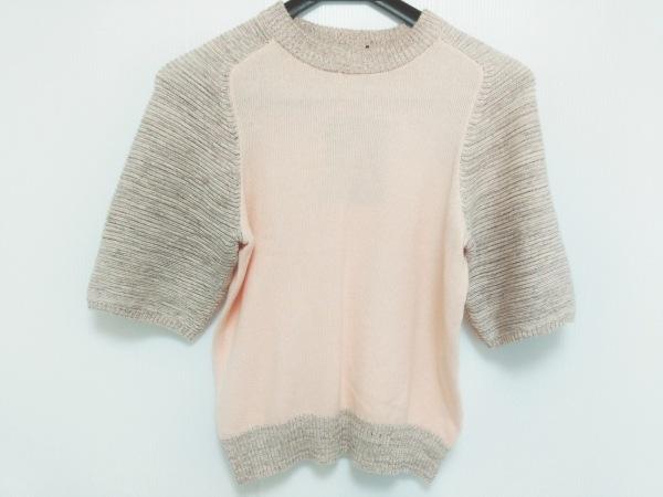 アンティポディウム 半袖セーター サイズS レディース美品  ピンク×マルチ ラメ