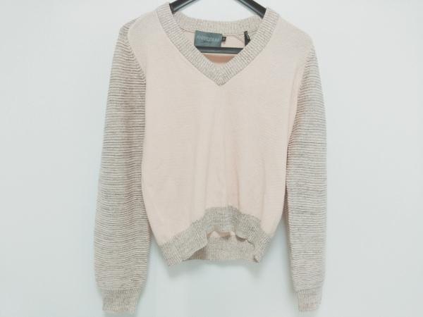 アンティポディウム 長袖セーター サイズS レディース ピンク×マルチ ラメ