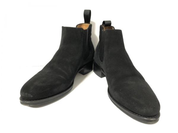ジャランスリワヤ ショートブーツ 4 1/2 レディース 黒 スエード×化学繊維