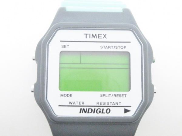 タイメックス 腕時計美品  INDIGLO グレー