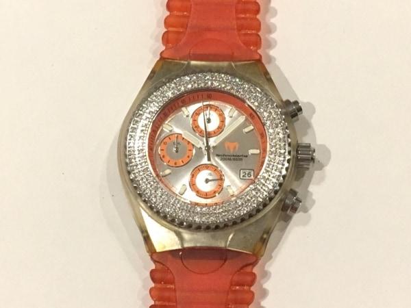 テクノマリーン 腕時計 - レディース ダイヤベゼル/クロノグラフ/ラバーベルト