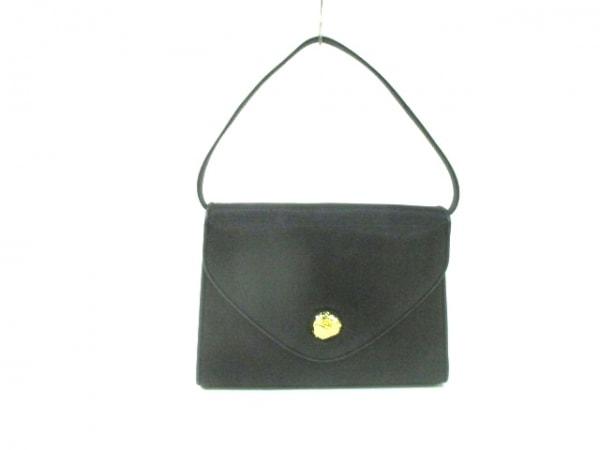 SANPO(サンポー) ハンドバッグ 黒 天然繊維×レザー