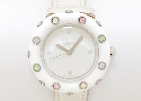 ボンボンウォッチ 腕時計 - レディース 白