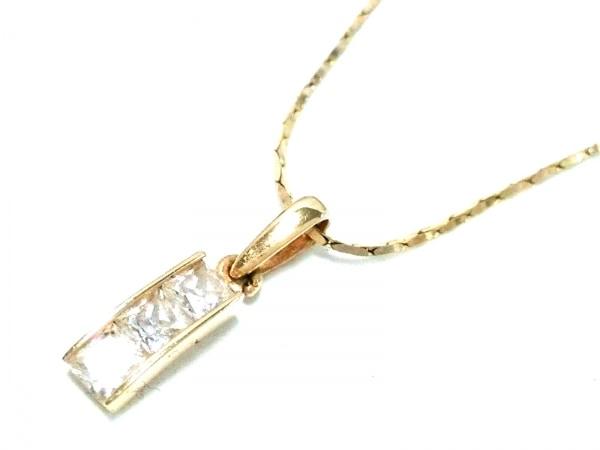ノーブランド ネックレス美品  K14×ダイヤモンド クリア 総重量1.5g/KC刻印