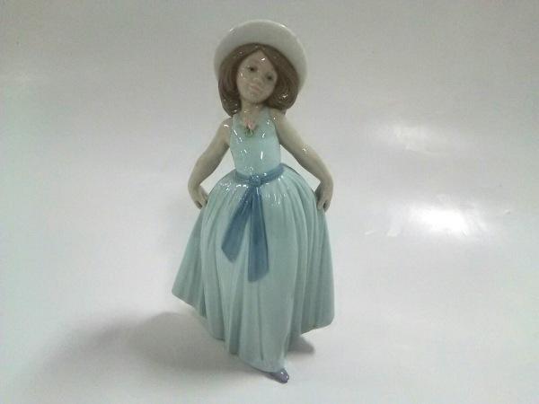 LLADRO(リヤドロ) 小物美品  ライトブルー×ベージュ×ブラウン 置物 陶器