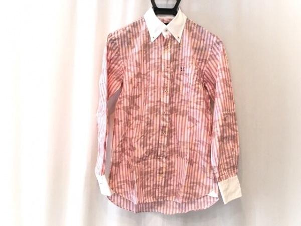 GUILD PRIME(ギルドプライム) 長袖シャツ サイズ38 M メンズ美品  ピンク×白×マルチ